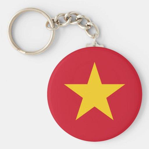 Vietnamese pride basic round button keychain