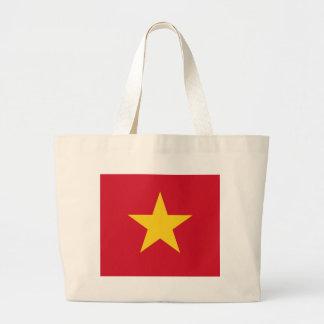 Vietnamese pride large tote bag