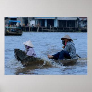 Vietnamese River Boat Poster