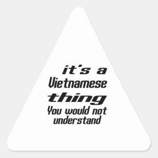 Vietnamese thing designs triangle sticker