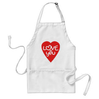 Vietnamese Valentine ♥ Love Yêu ♥ Asian Wordplay Adult Apron