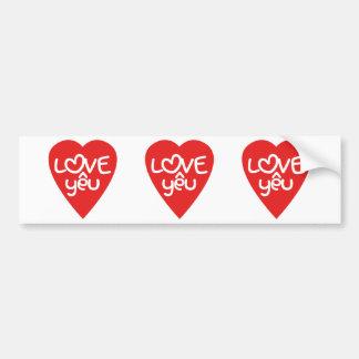 Vietnamese Valentine ♥ Love Yêu ♥ Asian Wordplay Car Bumper Sticker