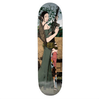 Vietnamese woman skateboard