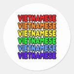 Vietnamita del arco iris etiqueta redonda