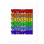 Vietnamita del arco iris postales