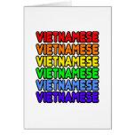 Vietnamita del arco iris tarjeton