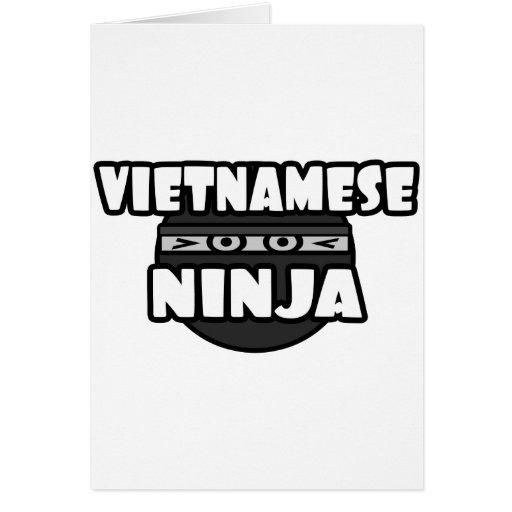 Vietnamita Ninja Felicitaciones