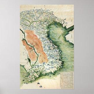 VietnamPanoramic MapVietnam Print