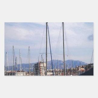 Vieux Port Marseille Rectangular Sticker