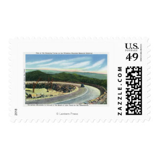 View a Sweeping Curve of the Memorial Hwy Postage