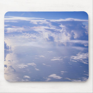 View above scattered cloud mouse pad