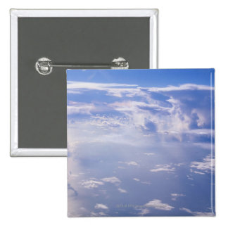 View above scattered cloud pinback button