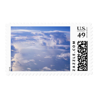 View above scattered cloud postage