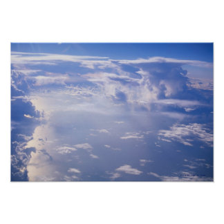 View above scattered cloud poster
