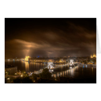 View across Budapest from Buda Castle Card