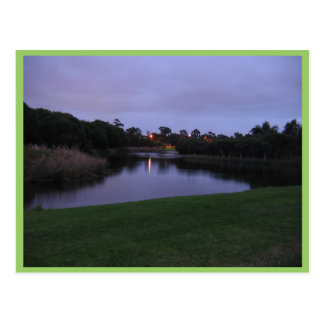 View Across Carine Swamp At Dawn, Western Australi Post Cards