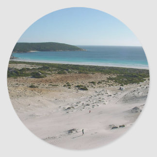 View Across Dillon Bay Toward Little Boat Harbour Classic Round Sticker