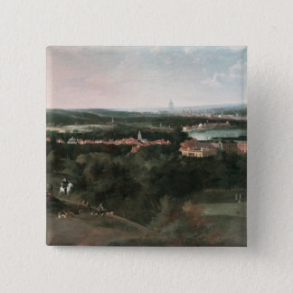 View across Greenwich Park towards London Pinback Button