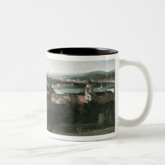 View across Greenwich Park towards London Two-Tone Coffee Mug