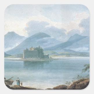 View across Loch Awe Square Sticker
