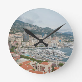 View across Monaco and Monte Carlo Round Clock