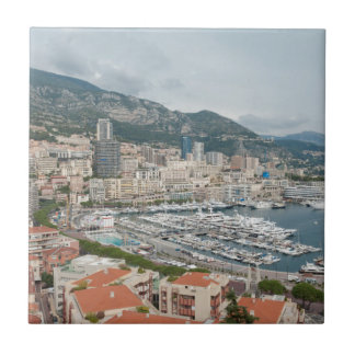 View across Monaco and Monte Carlo Tile