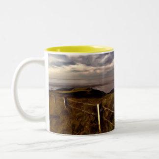 View Across to Nefyn Two-Tone Coffee Mug