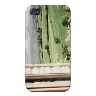 View across Tuscan landscape to farmhouse and iPhone 4 Case