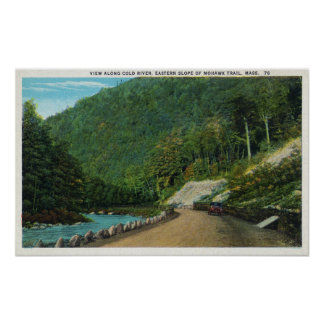 View Along Cold River of Eastern Slope of Poster