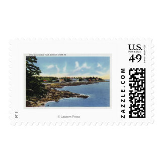 View Along Ocean Point, Homes by the Sea Postage
