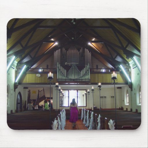 View Along The Aisle Of St Johns Lutheran Near Nor Mouse Pad