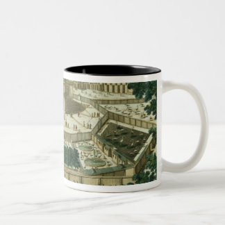 View and Perspective of the Salon de la Menagerie Two-Tone Coffee Mug