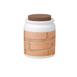 View angle on the brick wall candy jar