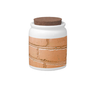 View angle on the red brick wall candy jar