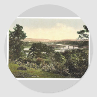 View at Cappoquin. Co. Waterford, Ireland rare Pho Sticker