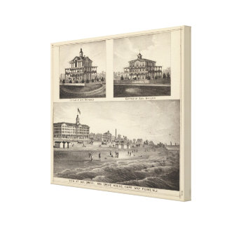 View at Sea Grove, Cape May Point Canvas Print