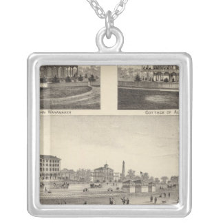 View at Sea Grove, Cape May Point Silver Plated Necklace