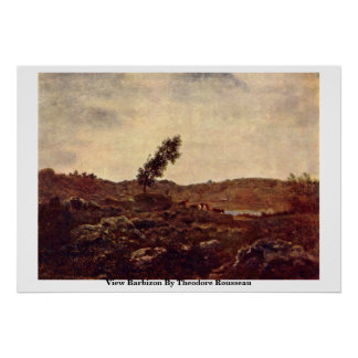 View Barbizon By Theodore Rousseau Poster