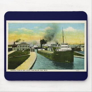 View Below the Soo, Soo Locks, Michigan Mouse Pad