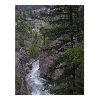 view @ box canyon falls walkway postcard