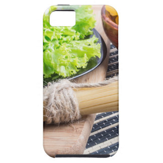 View close-up on uncooked pasta and spaghetti iPhone SE/5/5s case