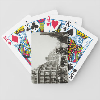 View down Oxford Street, London (b/w photo) Bicycle Playing Cards