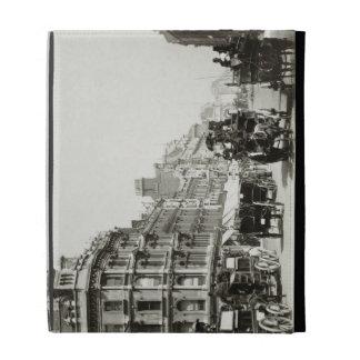 View down Oxford Street, London (b/w photo) iPad Folio Covers