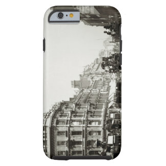 View down Oxford Street London b w photo iPhone 6 Case