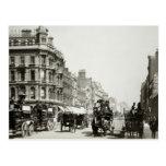 View down Oxford Street, London (b/w photo) Postcard