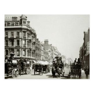 View down Oxford Street, London (b/w photo) Postcards