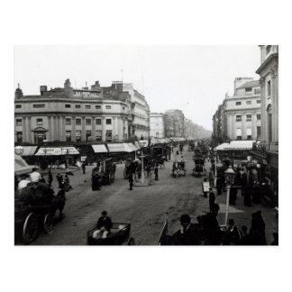 View down Oxford Street, London, c.1890 Postcard