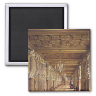 View down the length of the Gallery of Francis 2 Inch Square Magnet