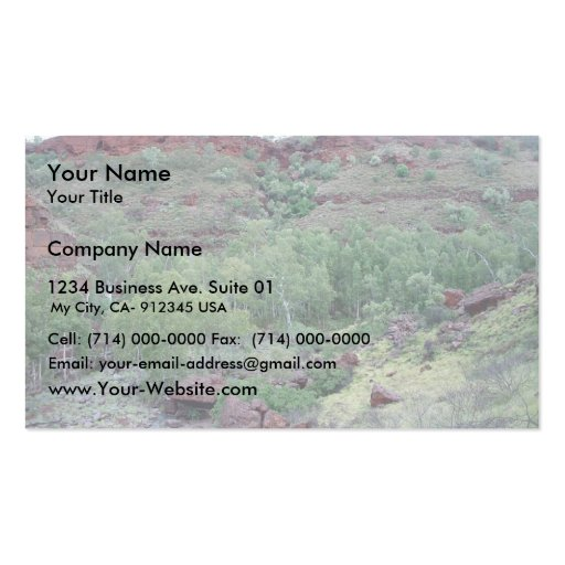 View Down Valley Of Bus-Sized Boulder Washed Down Business Card Templates