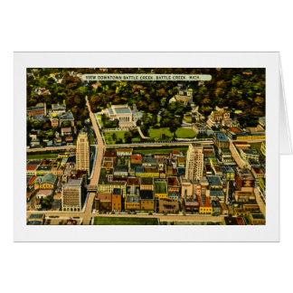 View Downtown Battle Creek, Michigan Vintage Card